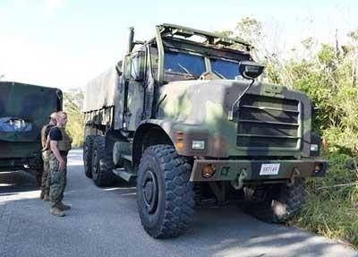 4メートル農道に米軍大型車 よけた住民の車脱輪 - 琉球新報 - 沖縄の新聞、地域のニュース