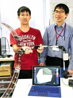 視野を簡易測定するシステム開発 特支校などで活用 沖縄高専