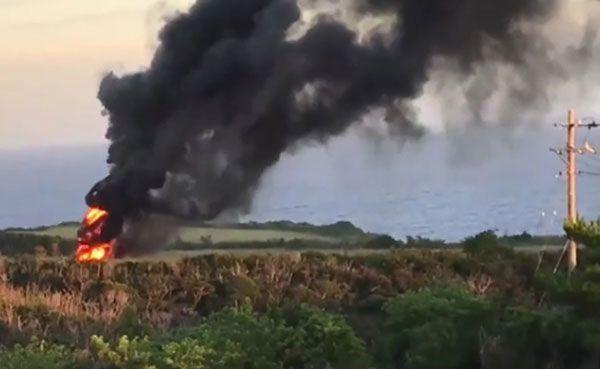 「写真 沖縄  炎上するヘリ」の画像検索結果