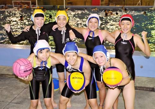 那覇西高に女子水球部 県内で初、全国目標